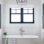 66 Cool Modern Farmhouse Bathroom Tile Ideas (16)