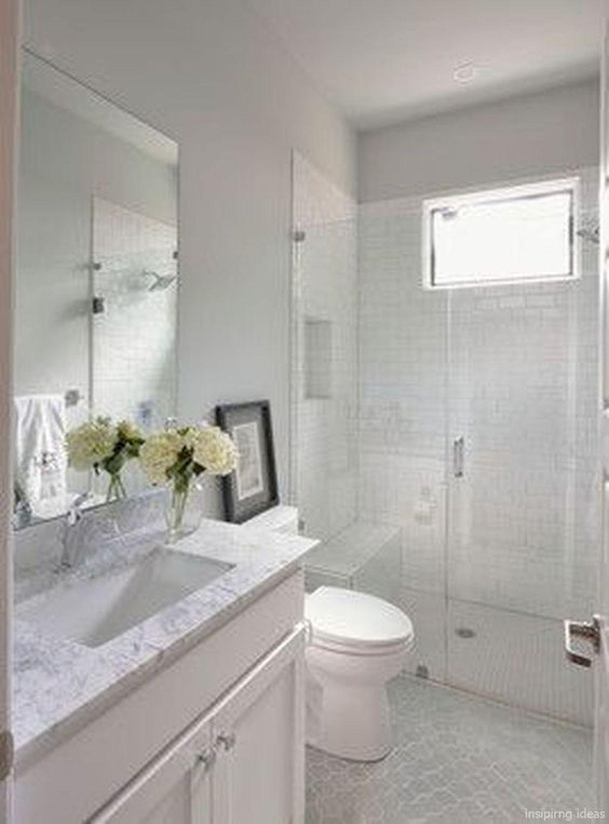 66 Cool Modern Farmhouse Bathroom Tile Ideas (3)