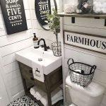 66 Cool Modern Farmhouse Bathroom Tile Ideas (30)