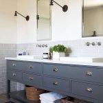 66 Cool Modern Farmhouse Bathroom Tile Ideas (31)