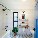 66 Cool Modern Farmhouse Bathroom Tile Ideas (44)