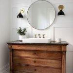 66 Cool Modern Farmhouse Bathroom Tile Ideas (49)