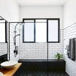 66 Cool Modern Farmhouse Bathroom Tile Ideas (51)