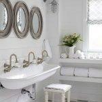 66 Cool Modern Farmhouse Bathroom Tile Ideas (6)