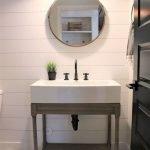 66 Cool Modern Farmhouse Bathroom Tile Ideas (63)