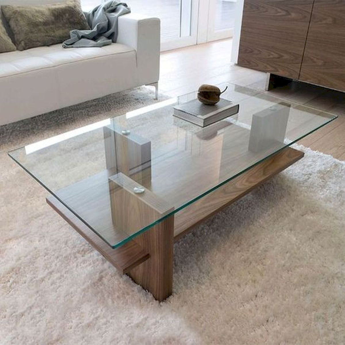 40 Awesome Modern Glass Coffee Table Design Ideas For Your Living Room (18)