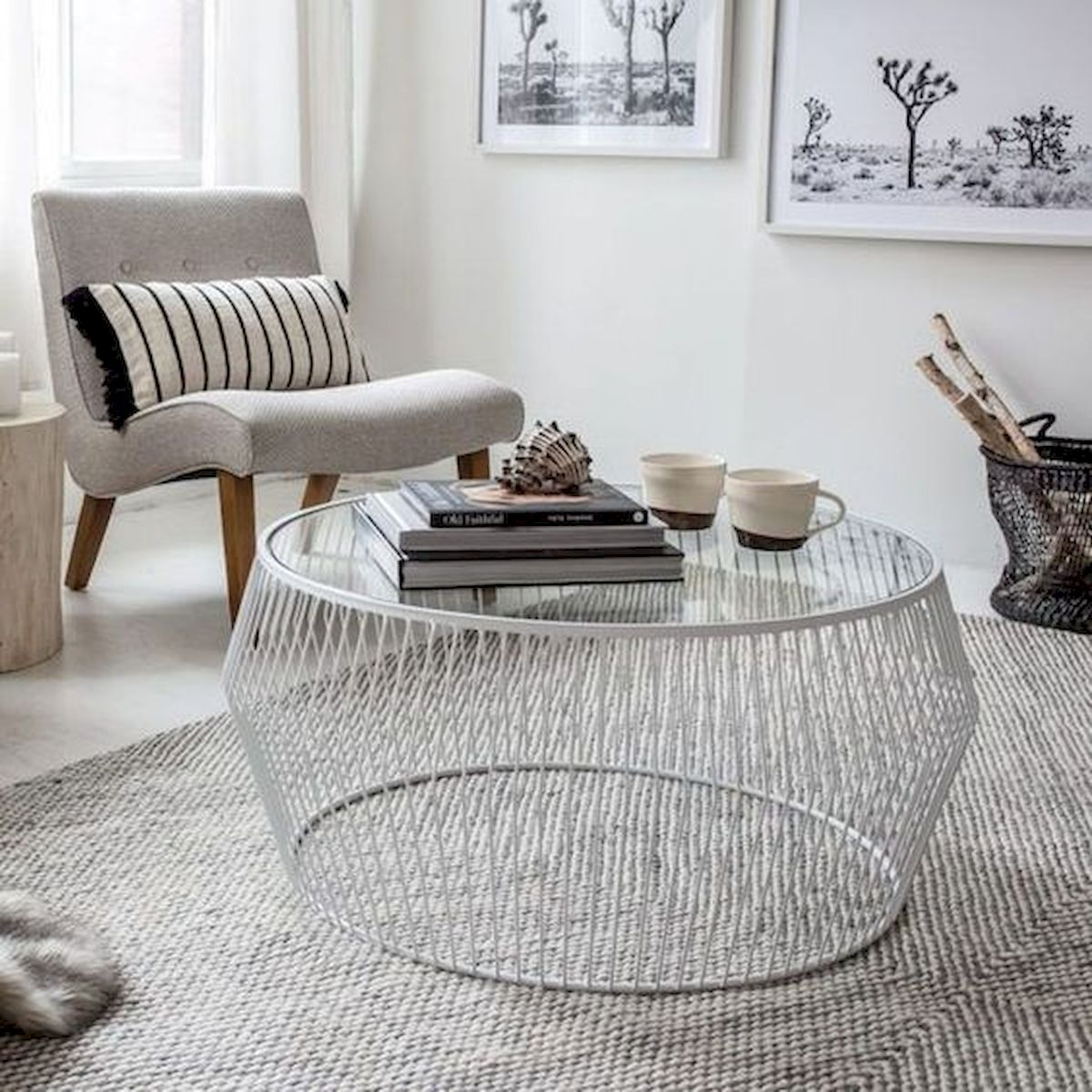 40 Awesome Modern Glass Coffee Table Design Ideas For Your Living Room (26)