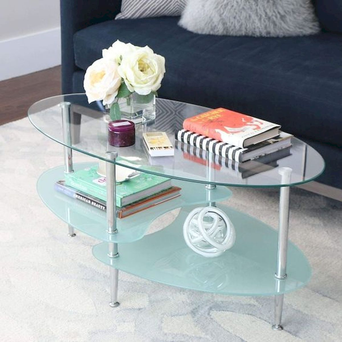 40 Awesome Modern Glass Coffee Table Design Ideas For Your Living Room (32)