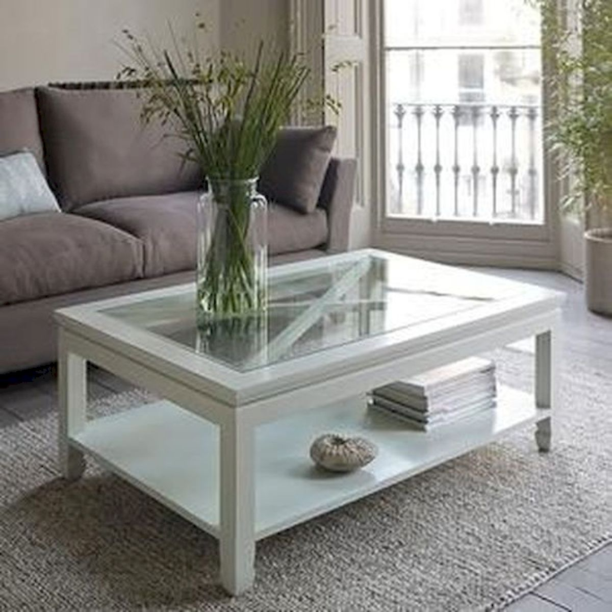 40 Awesome Modern Glass Coffee Table Design Ideas For Your Living Room (36)