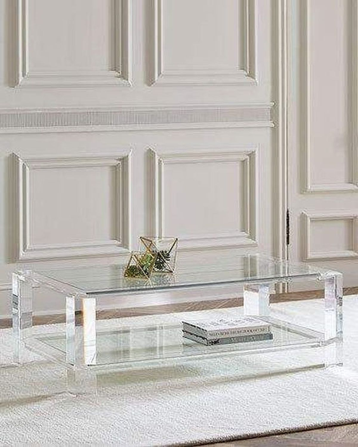 40 Awesome Modern Glass Coffee Table Design Ideas For Your Living Room (38)