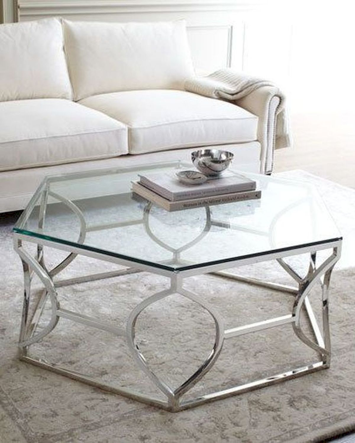 40 Awesome Modern Glass Coffee Table Design Ideas For Your Living Room (8)