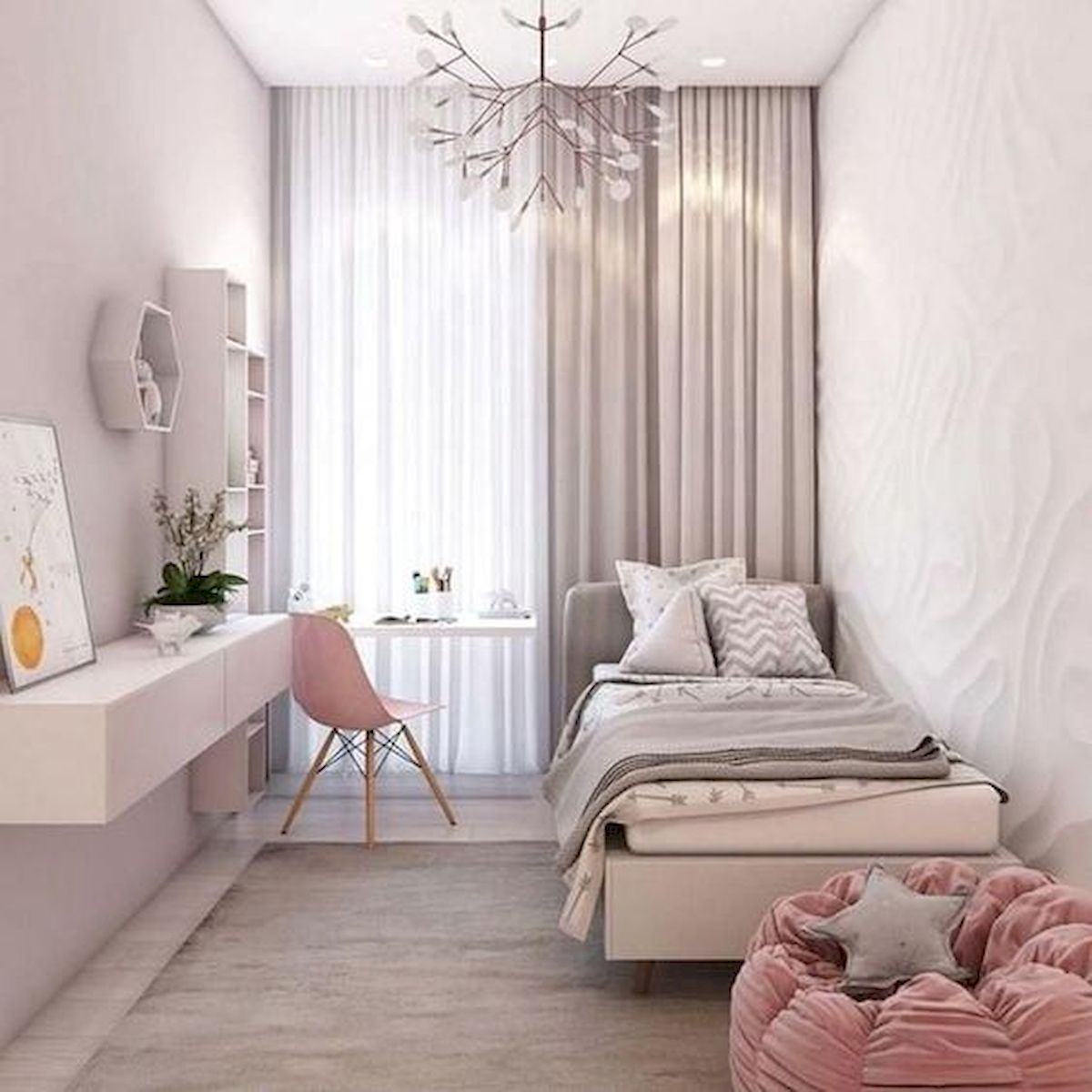 40 Cute Small Bedroom Design and Decor Ideas for Teenage Girl (17)