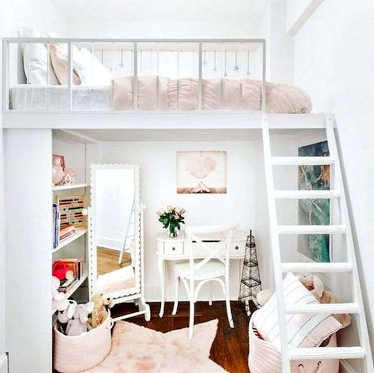40 Cute Small Bedroom Design and Decor Ideas for Teenage Girl (36)