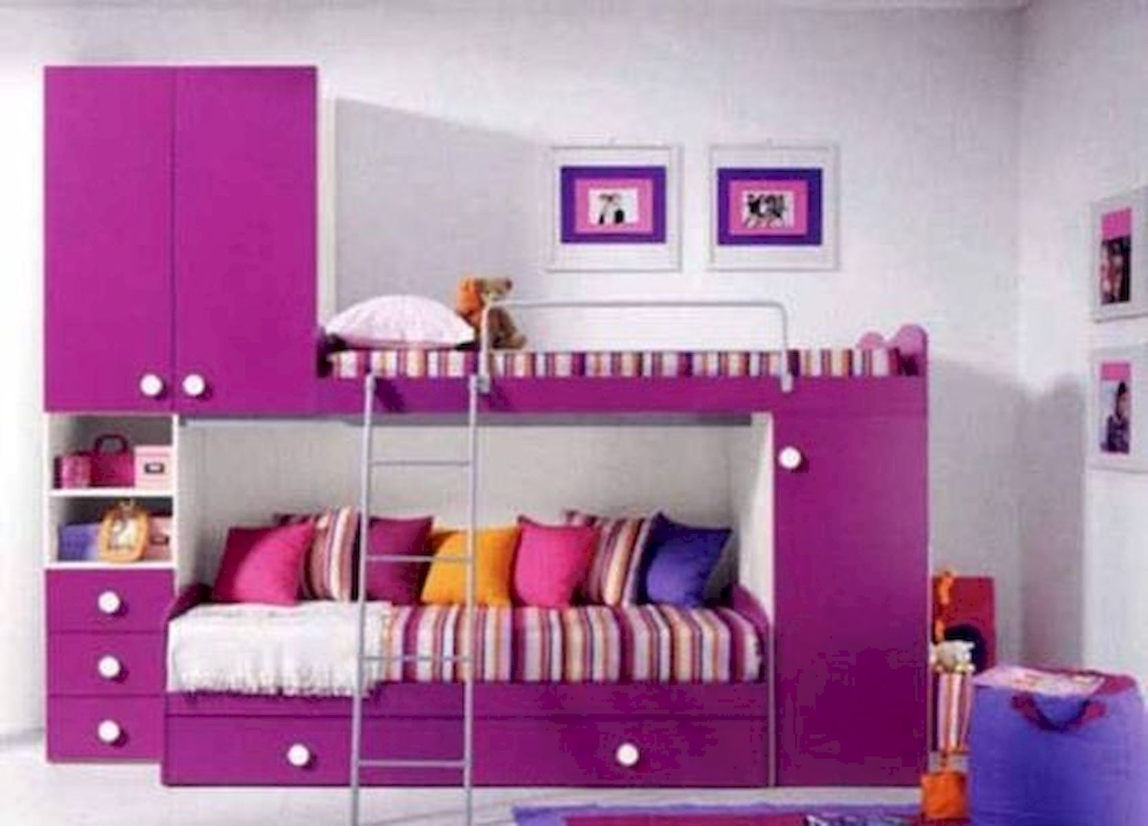40 Cute Small Bedroom Design and Decor Ideas for Teenage Girl (38)