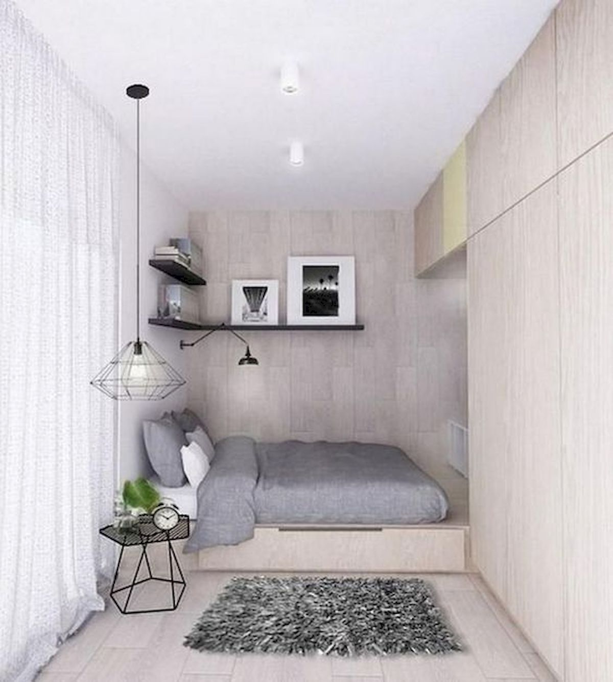 40 Cute Small Bedroom Design and Decor Ideas for Teenage Girl (40)
