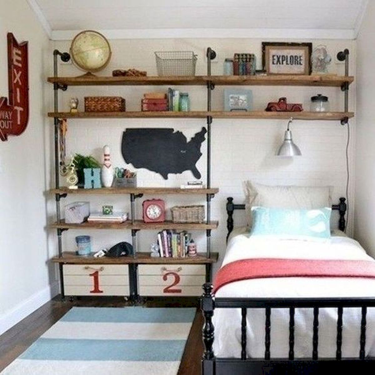 40 Cute Small Bedroom Design and Decor Ideas for Teenage Girl (6)