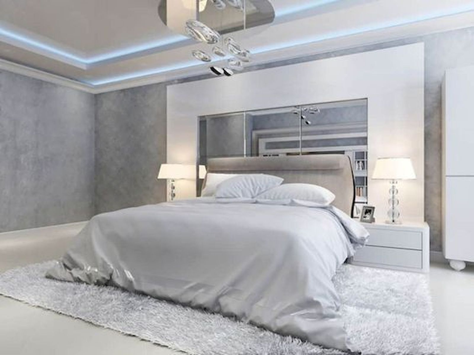 44 Awesome White Master Bedroom Design and Decor Ideas For Any Home Design (1)