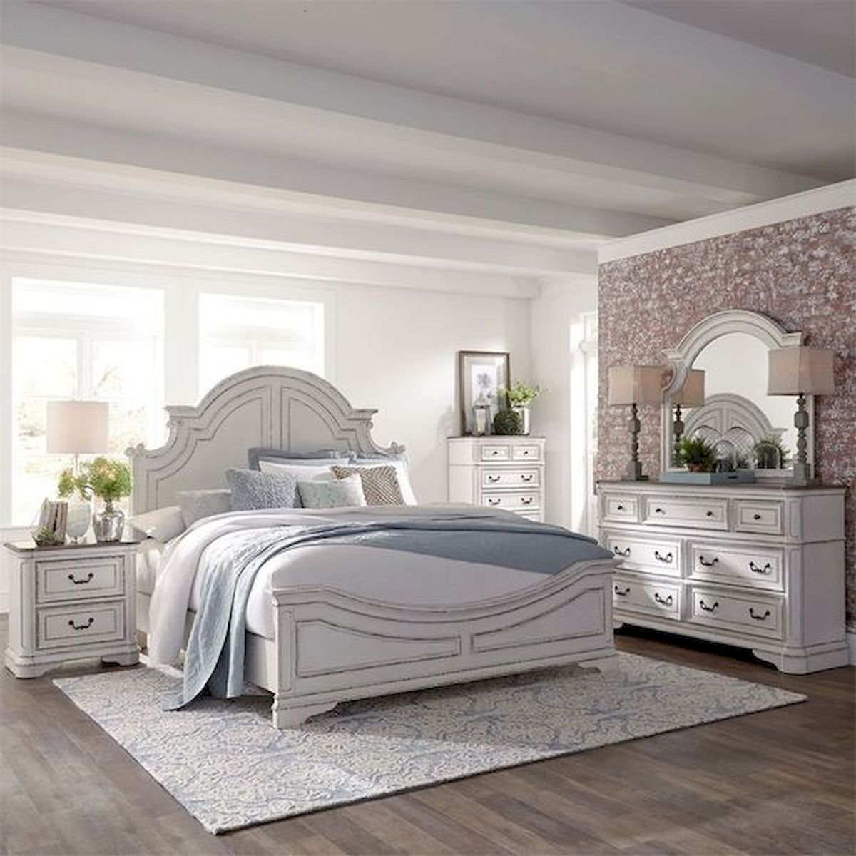 44 Awesome White Master Bedroom Design and Decor Ideas For Any Home Design (11)