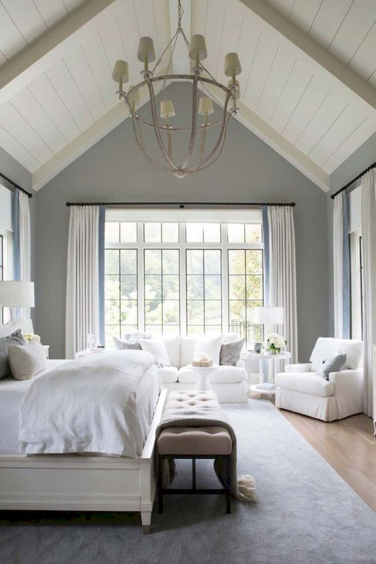 44 Awesome White Master Bedroom Design and Decor Ideas For Any Home Design (5)