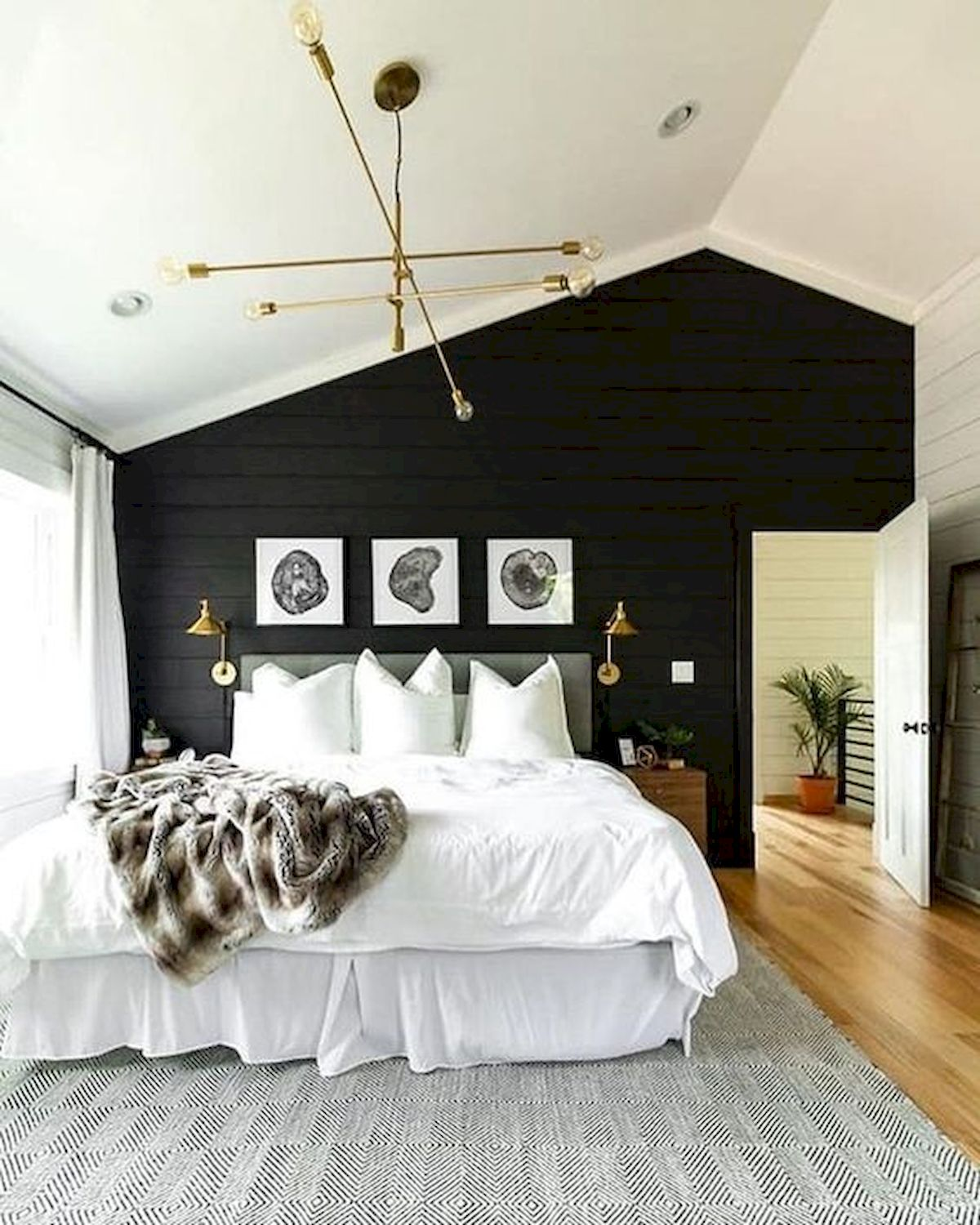 44 Awesome White Master Bedroom Design and Decor Ideas For Any Home Design (6)