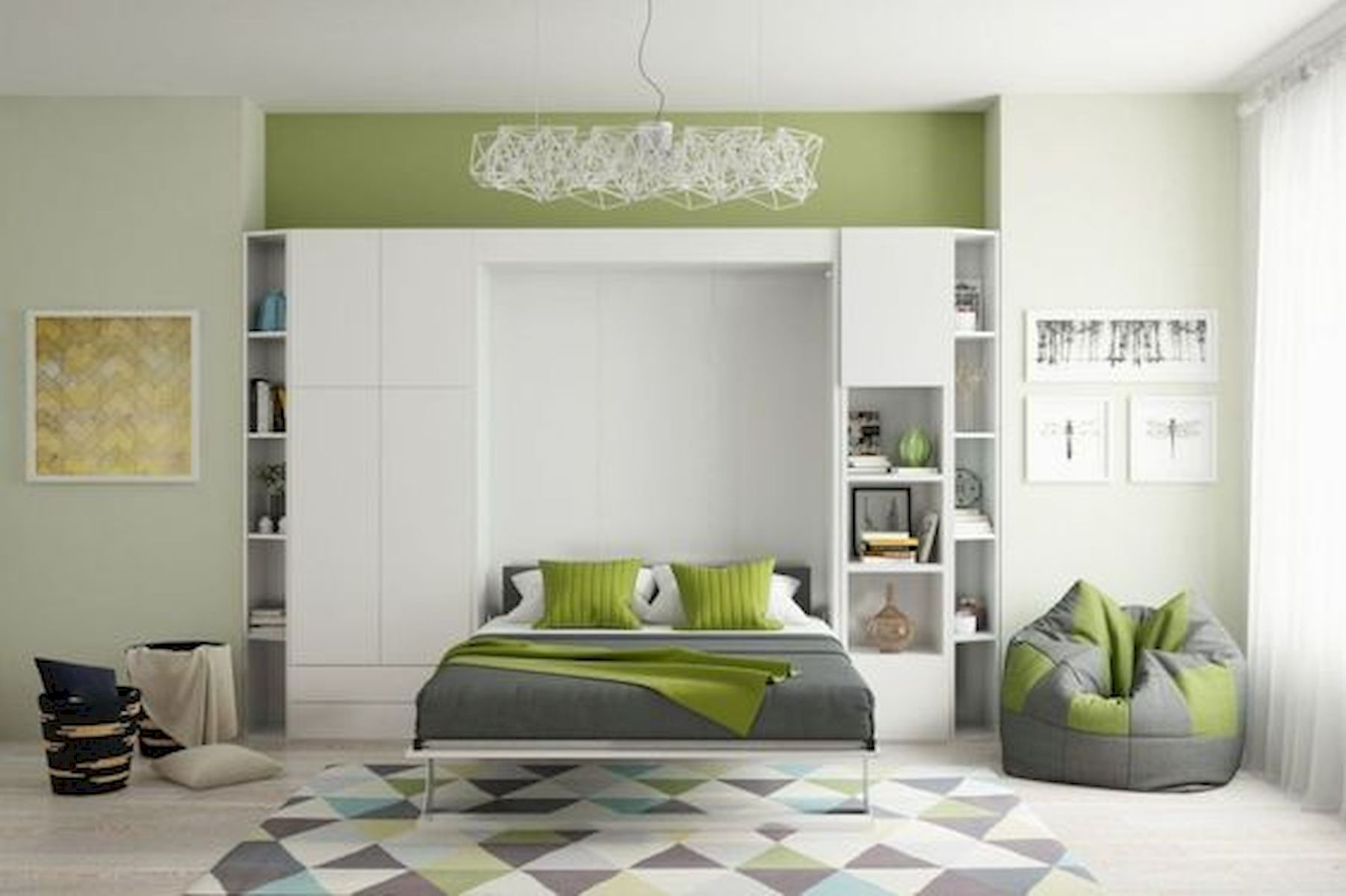 60 Brilliant Space Saving Ideas For Small Bedroom (13)