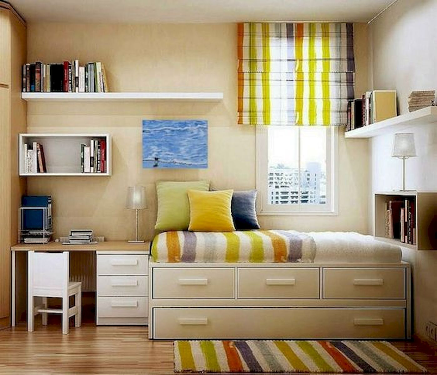 60 Brilliant Space Saving Ideas For Small Bedroom (47)