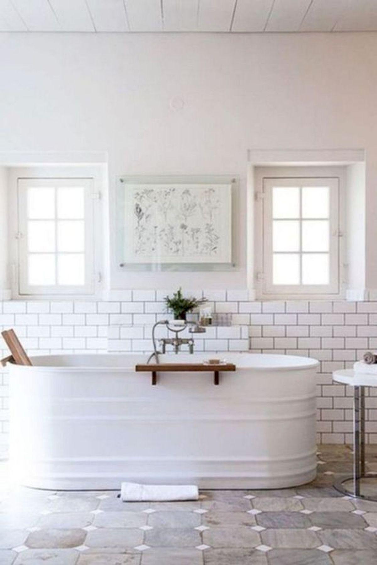 50 Awesome Modern Farmhouse Bathroom Remodel Ideas (4)