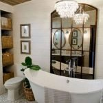 50 Awesome Modern Farmhouse Bathroom Remodel Ideas (40)
