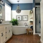 50 Awesome Modern Farmhouse Bathroom Remodel Ideas (44)