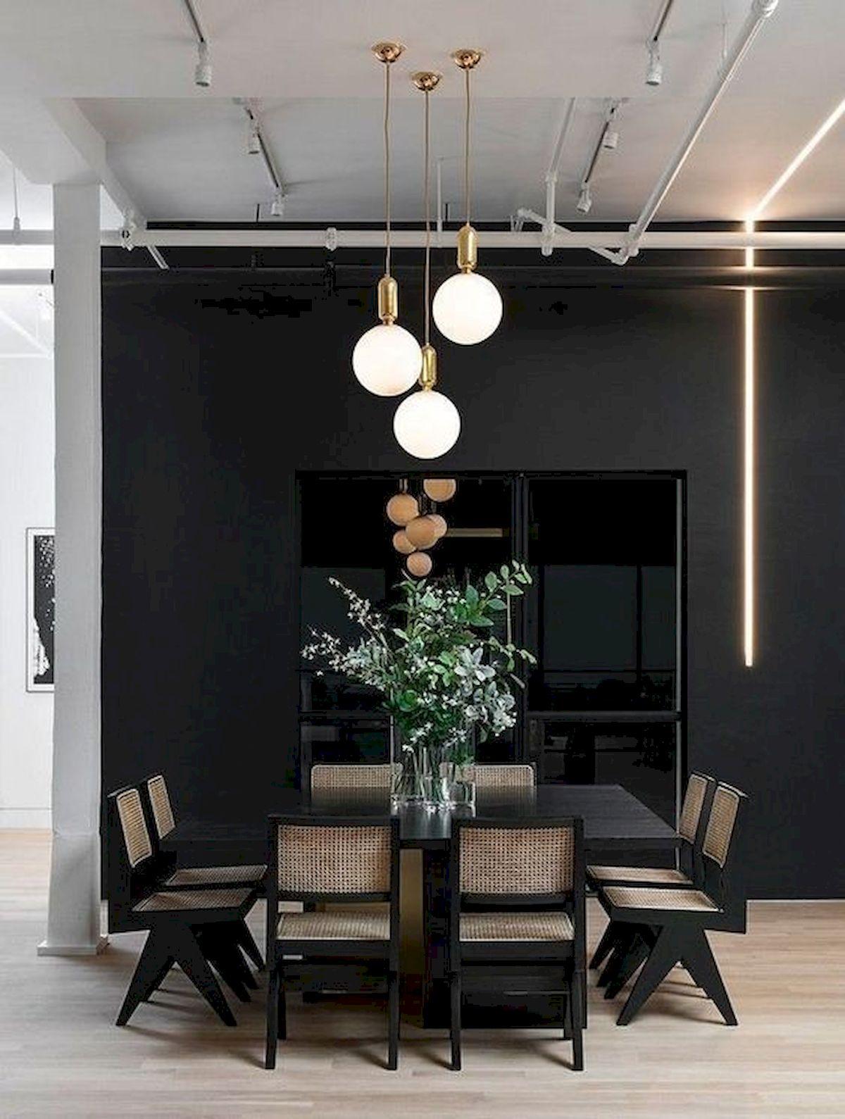 80 Elegant Modern Dining Room Design and Decor Ideas (55)