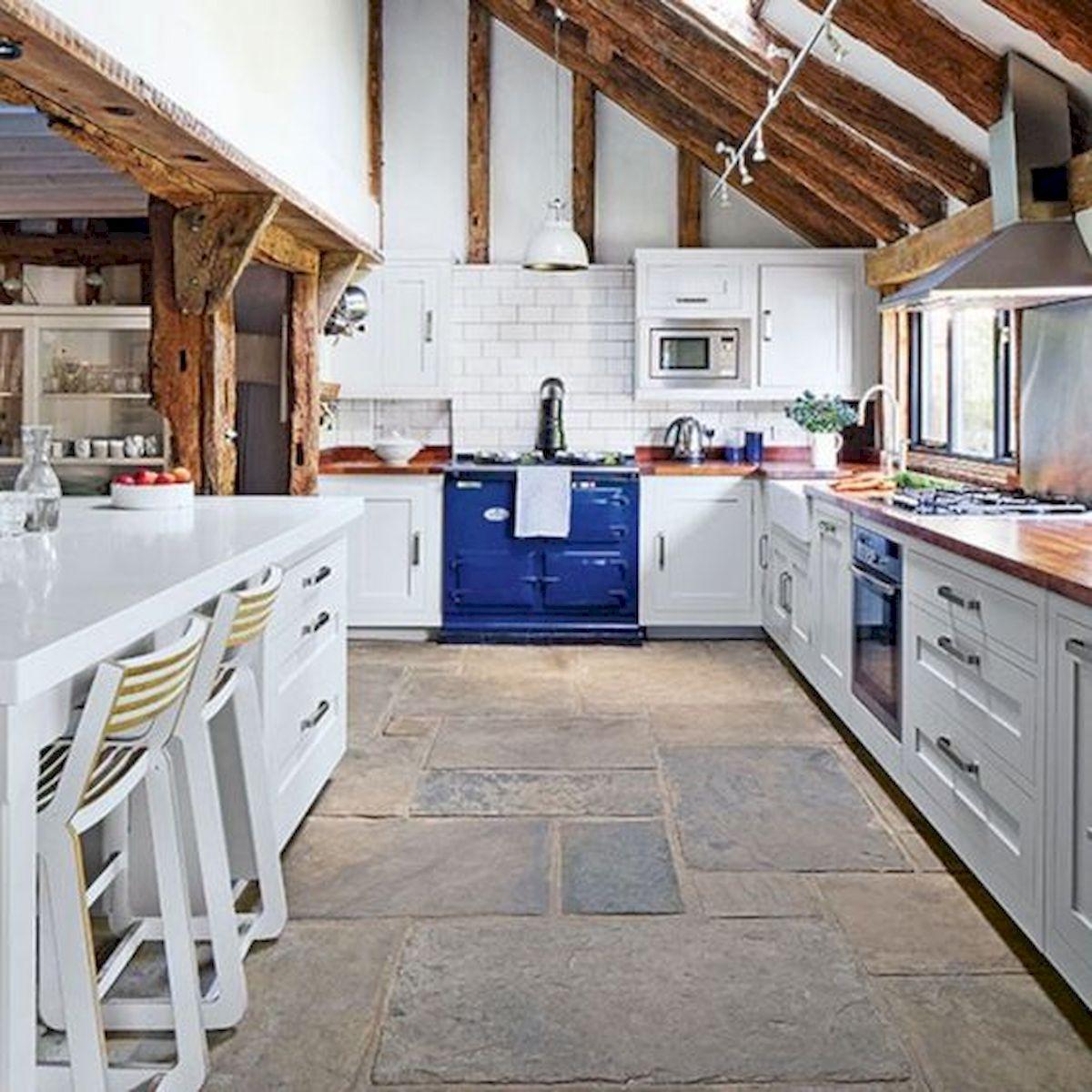 30 Best Kitchen Floor Tile Design Ideas With Concrete Floor Ideas (10)