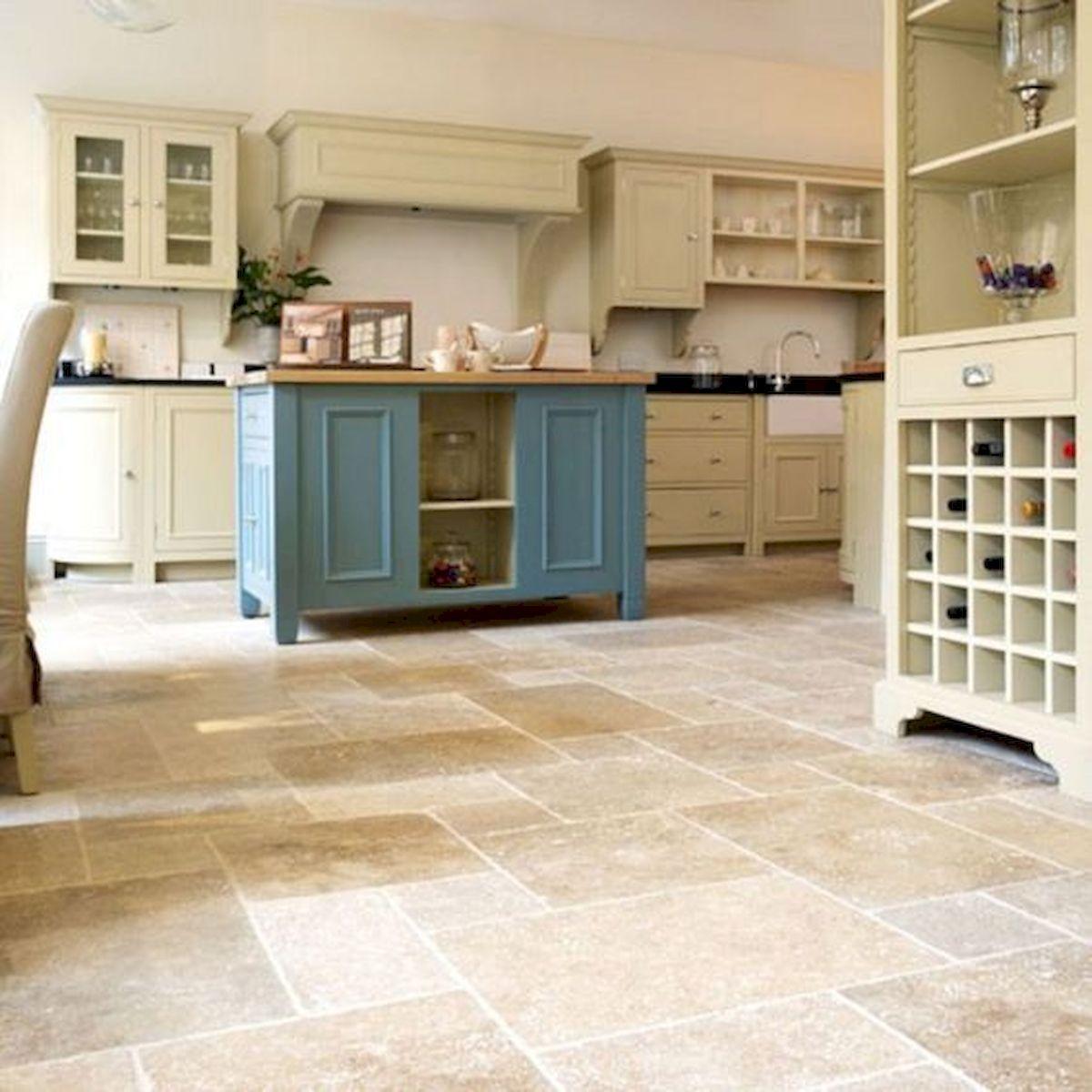 30 Best Kitchen Floor Tile Design Ideas With Concrete Floor Ideas (11)