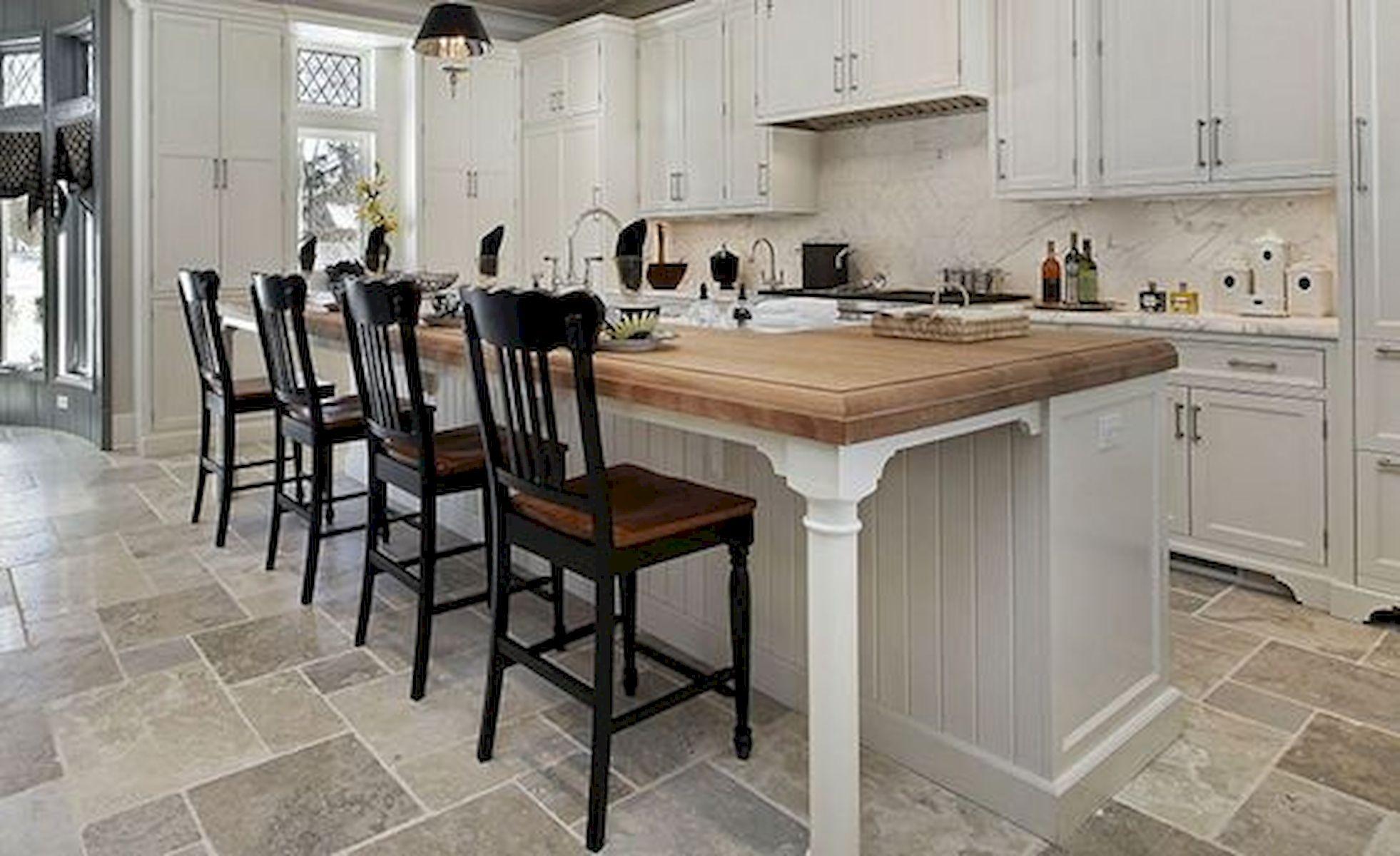 30 Best Kitchen Floor Tile Design Ideas With Concrete Floor Ideas (13)