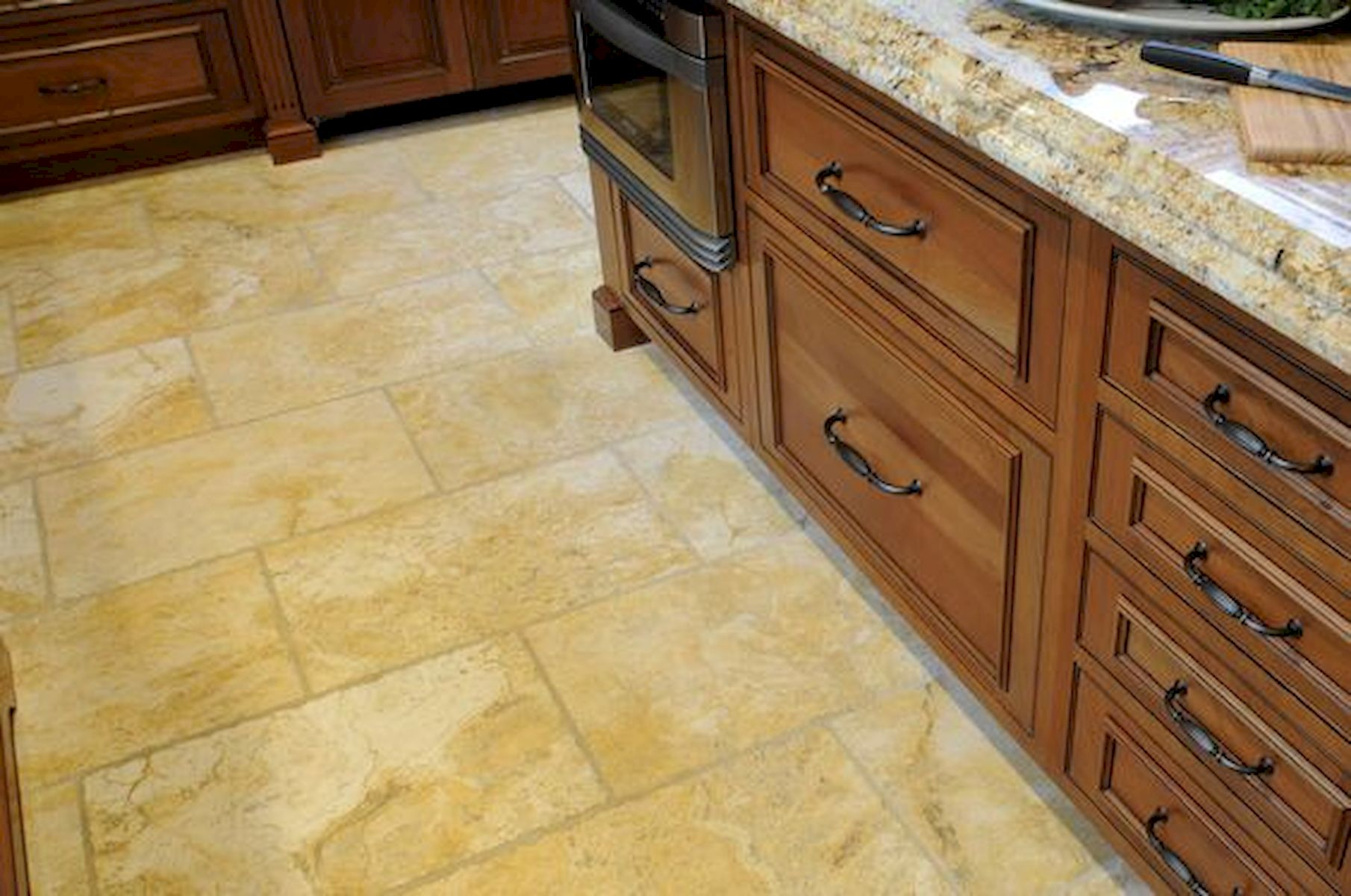 30 Best Kitchen Floor Tile Design Ideas With Concrete Floor Ideas (14)