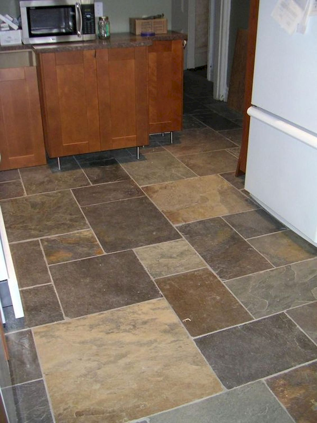 30 Best Kitchen Floor Tile Design Ideas With Concrete Floor Ideas (17)