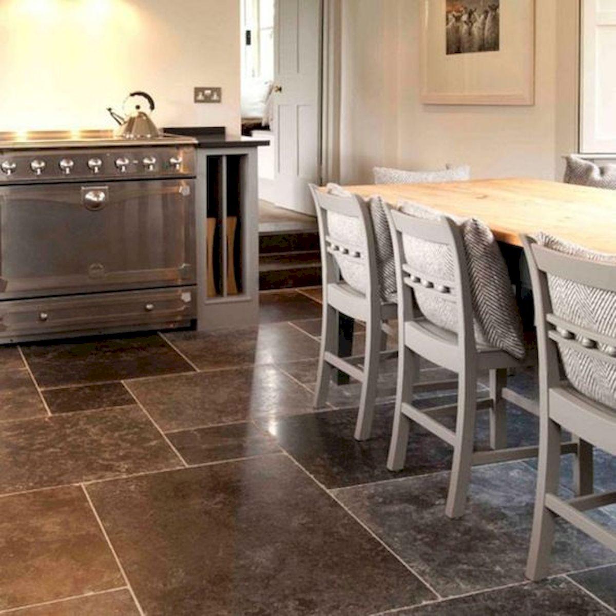 30 Best Kitchen Floor Tile Design Ideas With Concrete Floor Ideas (2)