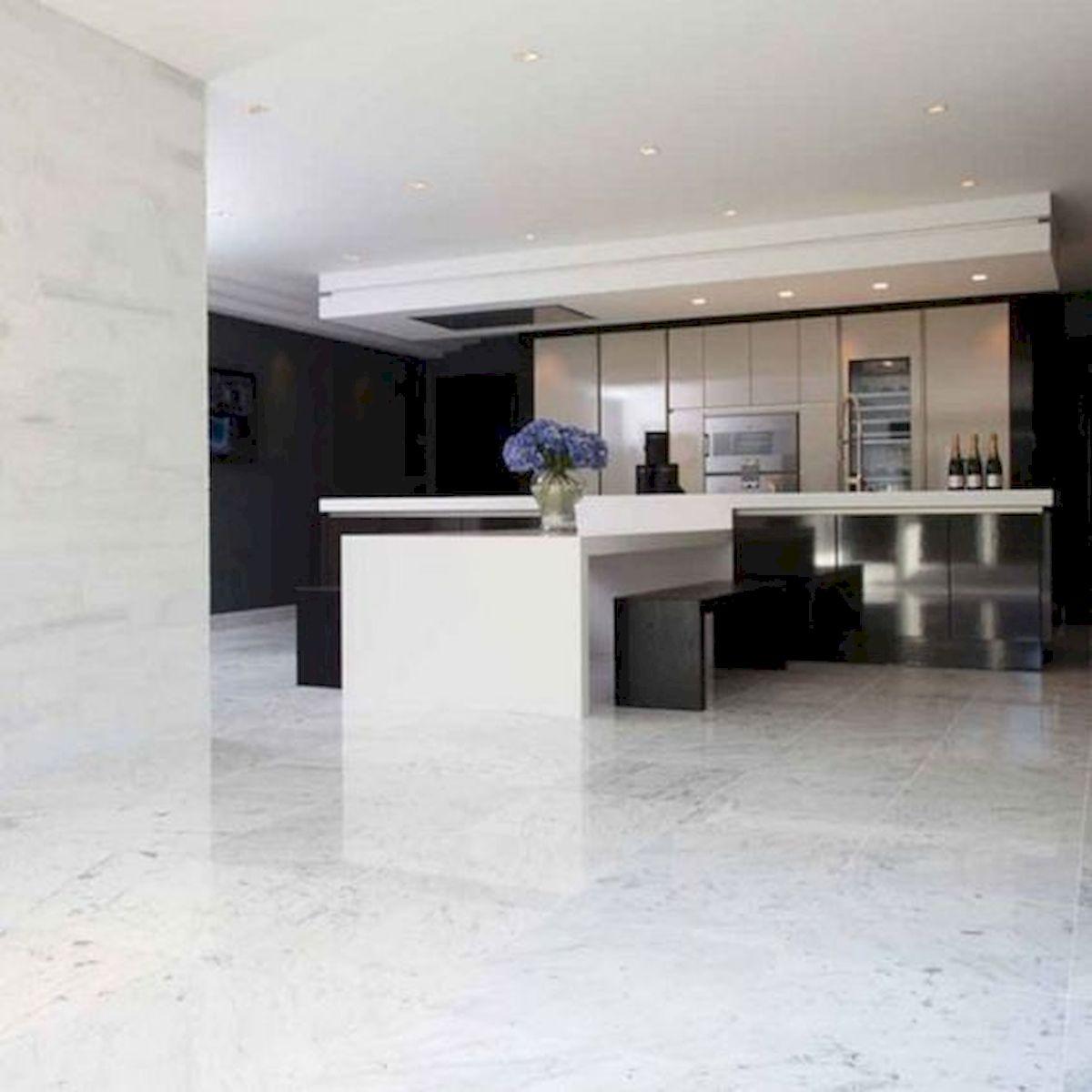 30 Best Kitchen Floor Tile Design Ideas With Concrete Floor Ideas (21)