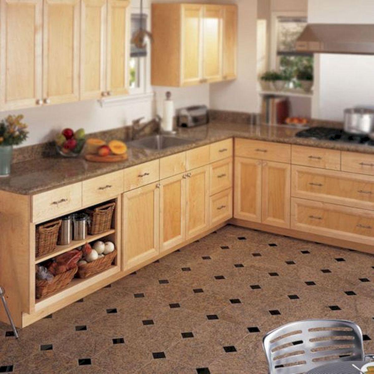 30 Best Kitchen Floor Tile Design Ideas With Concrete Floor Ideas (22)