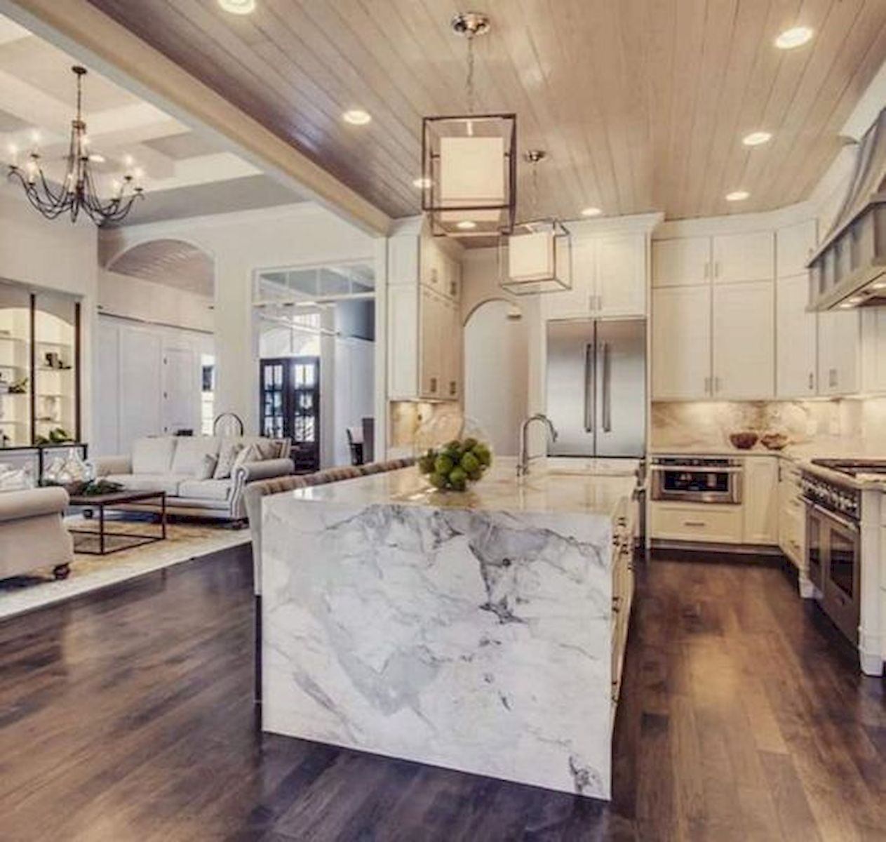 30 Best Kitchen Floor Tile Design Ideas With Concrete Floor Ideas (24)