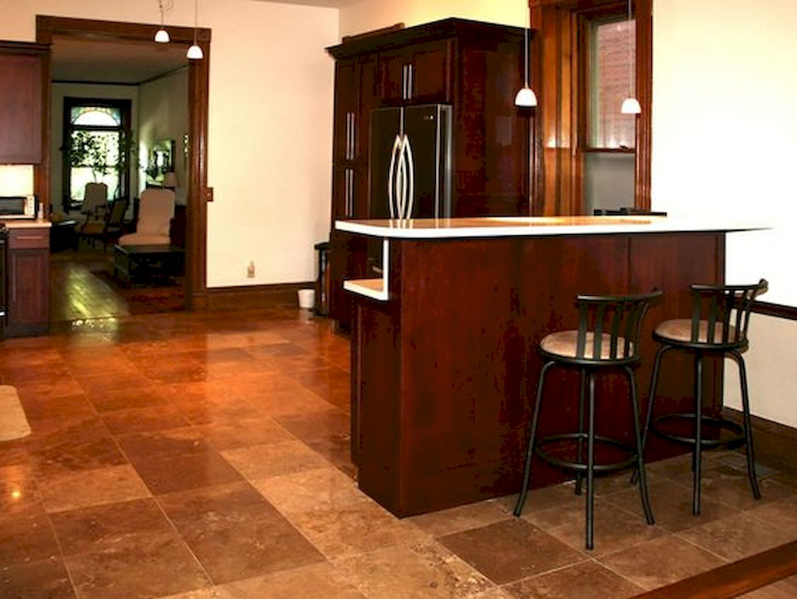 30 Best Kitchen Floor Tile Design Ideas With Concrete Floor Ideas (25)