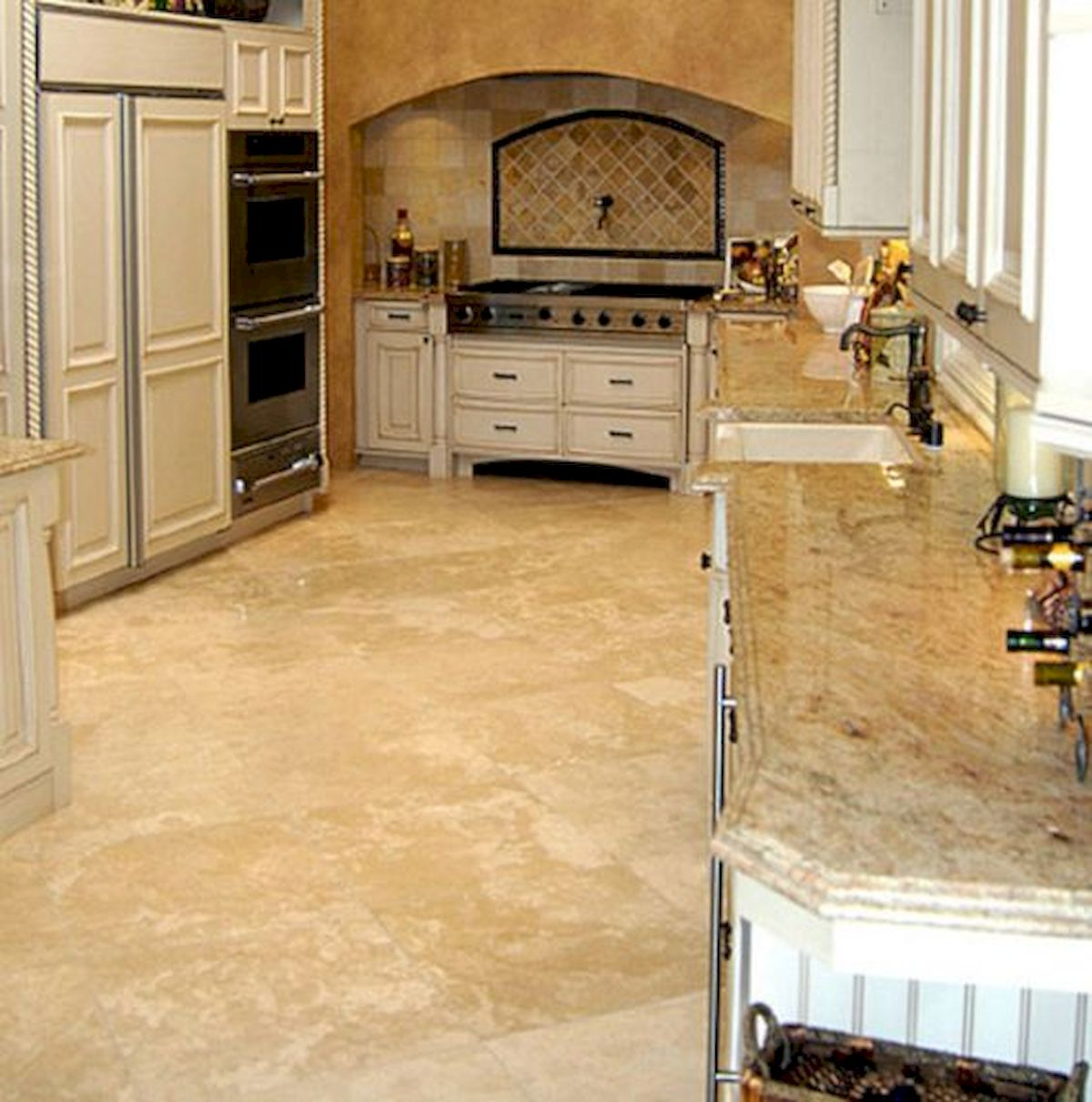 30 Best Kitchen Floor Tile Design Ideas With Concrete Floor Ideas (28)