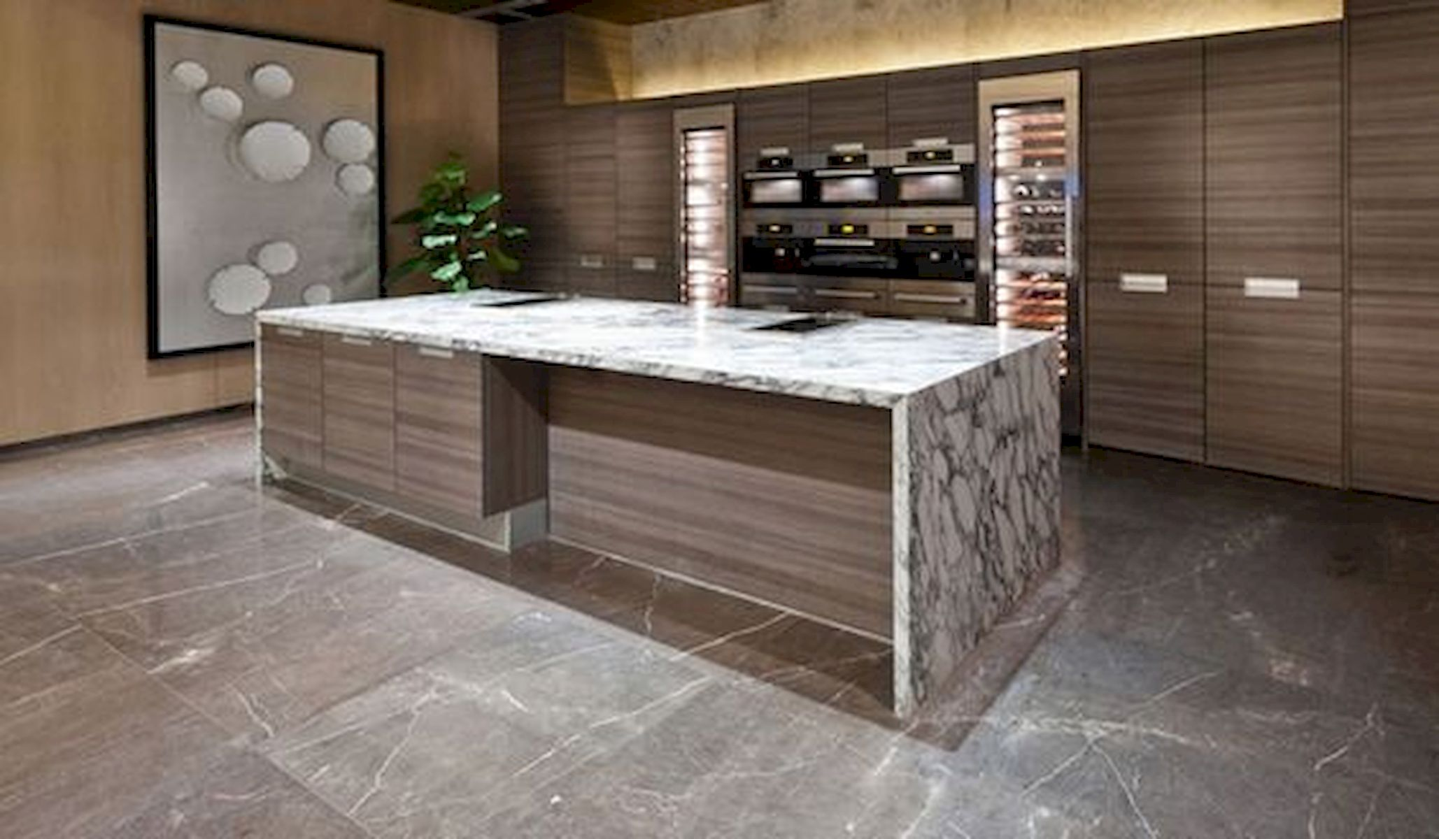30 Best Kitchen Floor Tile Design Ideas With Concrete Floor Ideas (5)