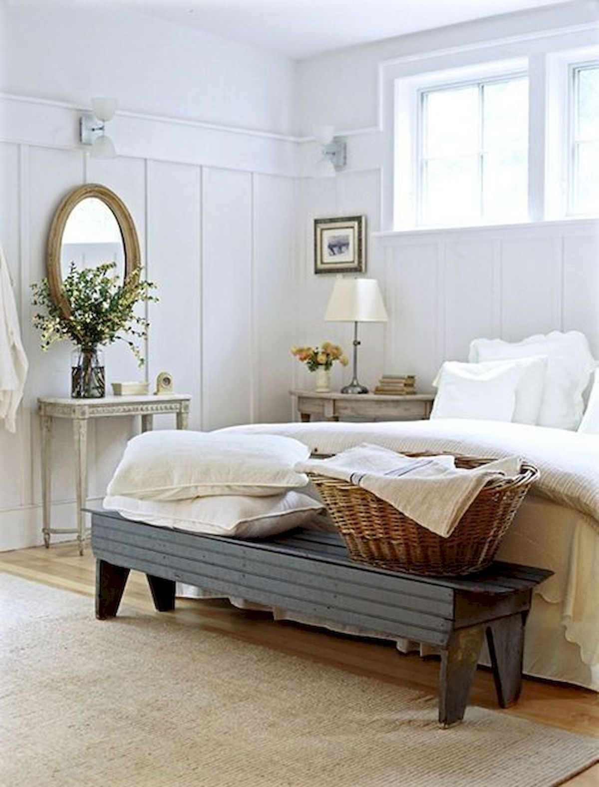 40 Classic Farmhouse Bedroom Design And Decor Ideas That Make Your Home Feel Great (3)
