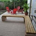 40 Fantastic Outdoor Bench Ideas For Backyard and Front Yard Garden (15)