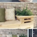40 Fantastic Outdoor Bench Ideas For Backyard and Front Yard Garden (21)