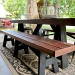 40 Fantastic Outdoor Bench Ideas For Backyard and Front Yard Garden (23)