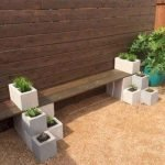 40 Fantastic Outdoor Bench Ideas For Backyard and Front Yard Garden (36)
