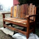 40 Fantastic Outdoor Bench Ideas For Backyard and Front Yard Garden (40)