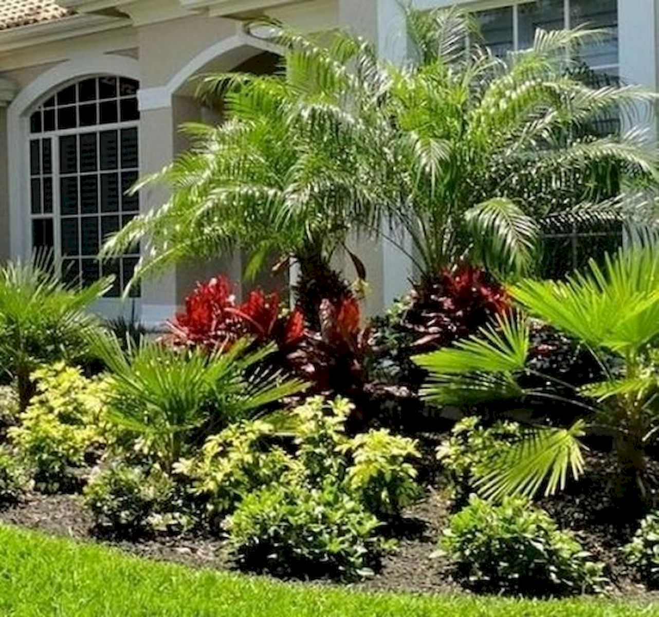 48 Stunning Front Yard Landscaping Ideas That Make Beautiful Garden (19)