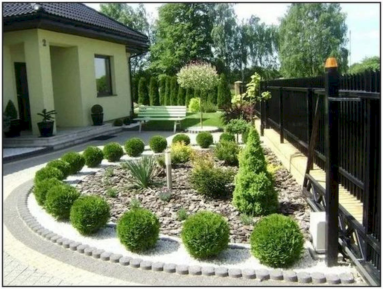 40 Fabulous Modern Garden Designs Ideas For Front Yard and Backyard (2)